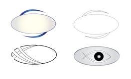Oval Logo Icon Graphic Design. Logotype symbol oval icon vector illustration. Company logo clip art isolate on white background. Abstract minimalist eye symbol Stock Photo
