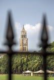 Oval Maidan in Mumbai, India. View at cricket field and Rajabai clock tower at Oval Maidan in Mumbai, India Stock Photos