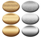 Oval metal boards collection. For designers Stock Images