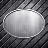 Oval metal sign background Stock Image
