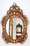 Oval mirror Stock Images