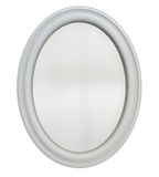 Oval Mirror Frame. The mirror surface can be muptiplied over any image to give the impression of mirror reflection. Clipping path included for precise selection Royalty Free Stock Image