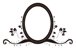 Oval mirror and lotus Royalty Free Stock Images