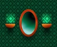 Oval mirror. Stock Photos