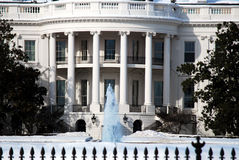 Oval Office Facade of White House Stock Photo