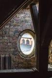 Oval open window Stock Photo