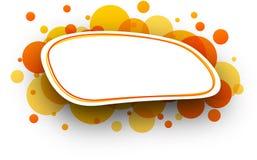Oval orange background. Stock Image