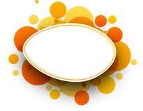 Oval orange background. Stock Images