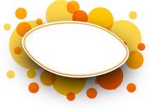 Oval orange background. Royalty Free Stock Image