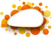 Oval orange background. Royalty Free Stock Photography