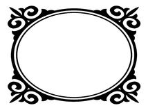 Oval ornamental decorative frame Royalty Free Stock Photography