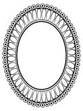 Oval ornamental decorative frame Stock Image