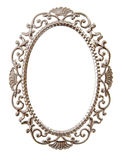 Oval ornate frame. Isolated on white stock images