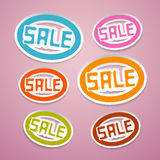 Oval Paper Vector Sale Titles Stock Photos