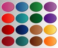 Oval pastel buttons Stock Image