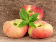 Oval peaches Royalty Free Stock Image