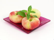 Oval peaches Stock Images