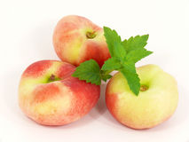 Oval peaches Royalty Free Stock Photo