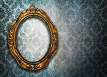 Oval photo frame Stock Photo