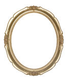 Oval photo frame (clipping path) Stock Photography