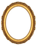 Oval Picture Frame. Isolated on White Stock Image