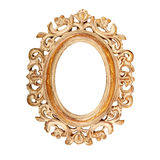 Oval picture frame. Vintage ornate oval picture frame Royalty Free Stock Photography