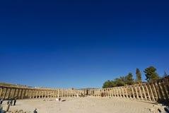 Oval Plaza in Jerash Royalty Free Stock Image