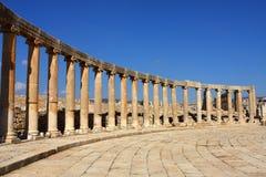 Oval plaza in Jerash, Stock Image