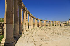 Oval plaza , Jerash Royalty Free Stock Image