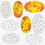 Oval polygon abstracts Royalty Free Stock Photos