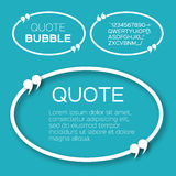 Oval Quote bubble. Royalty Free Stock Photo
