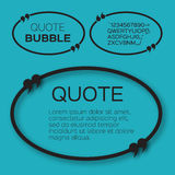 Oval Quote bubble. Royalty Free Stock Images