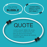 Oval Quote bubble. Stock Photography