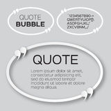Oval Quote bubble. Stock Images