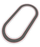 Oval racetrack design in bird view Royalty Free Stock Image
