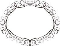 Oval ram Royaltyfri Bild