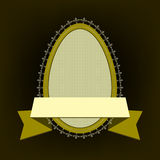 Oval ram i form av ägg Fotografering för Bildbyråer