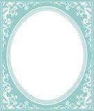 Oval ram med den eleganta prydnaden Royaltyfri Fotografi