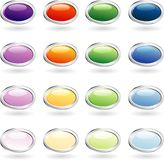 Oval ring buttons stock illustration
