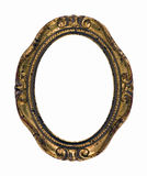 oval rostig tappning för ramguld Royaltyfri Foto