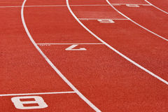 Oval Running Track. Curve of an oval running track Royalty Free Stock Photo