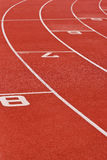 Oval Running Track. Curve of an oval running track Stock Photos