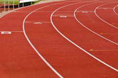 Oval Running Track - Outside Circle. Curve of an oval running track Royalty Free Stock Image