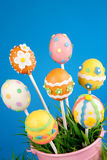 Easter egg cake pops Stock Photography