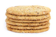 Oval-shaped cookies Stock Photography
