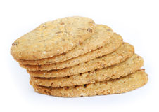 Oval-shaped cookies stock photo