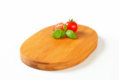 Oval-shaped cutting board Stock Images