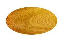 Oval shaped wooden background Stock Images