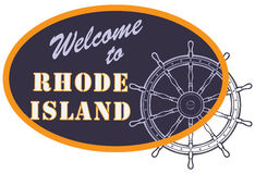 Oval sign Welcome to Rhode Island Stock Photos