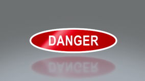 Oval signage of danger Stock Images